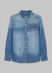 Denim Shirt, regular fit, chest poc