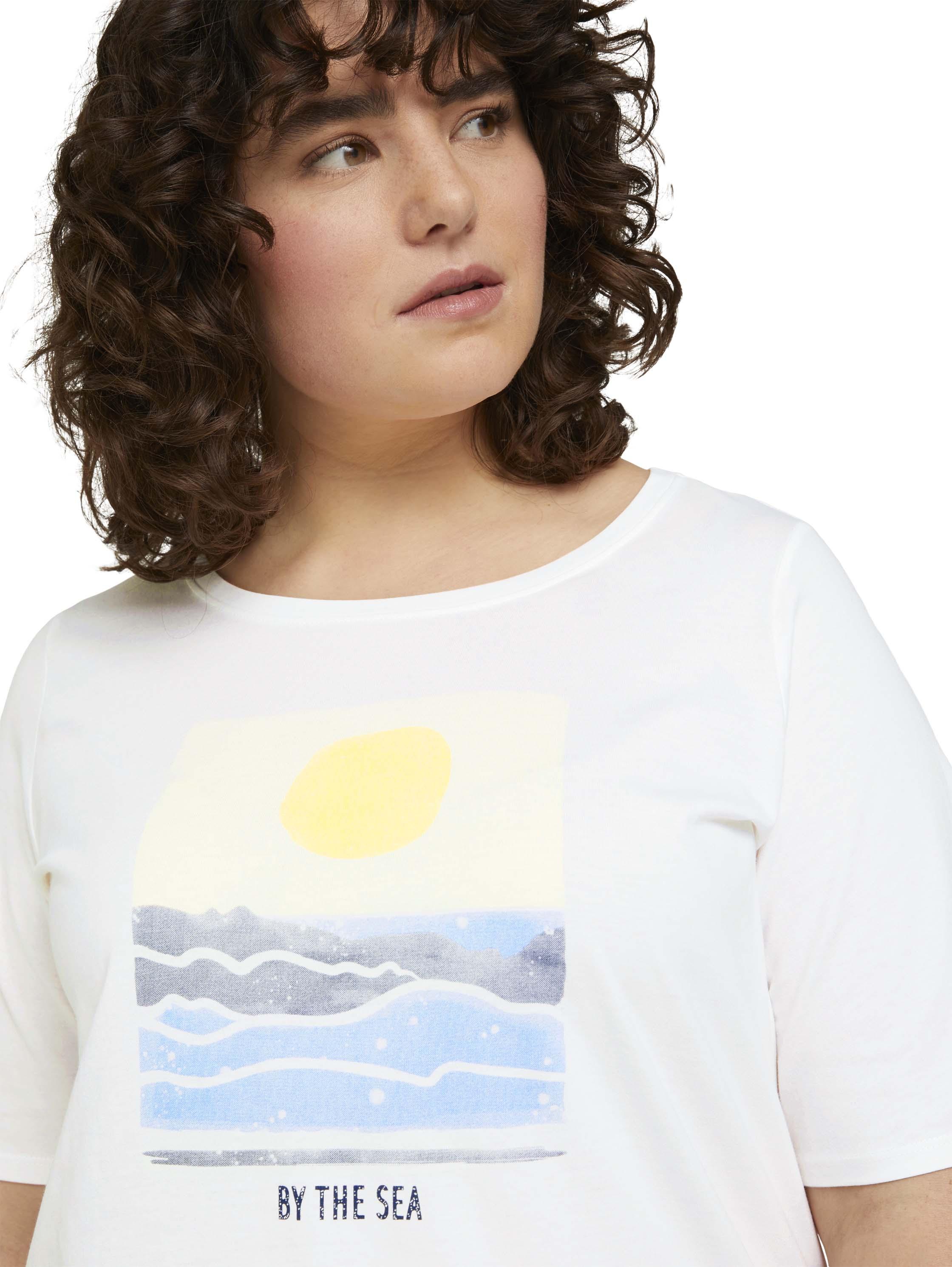 Damen T-Shirt with sleeve detail