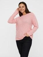 Damen Pullover - VMCLOUD LS O-NECK BLOUSE GA BF CURV