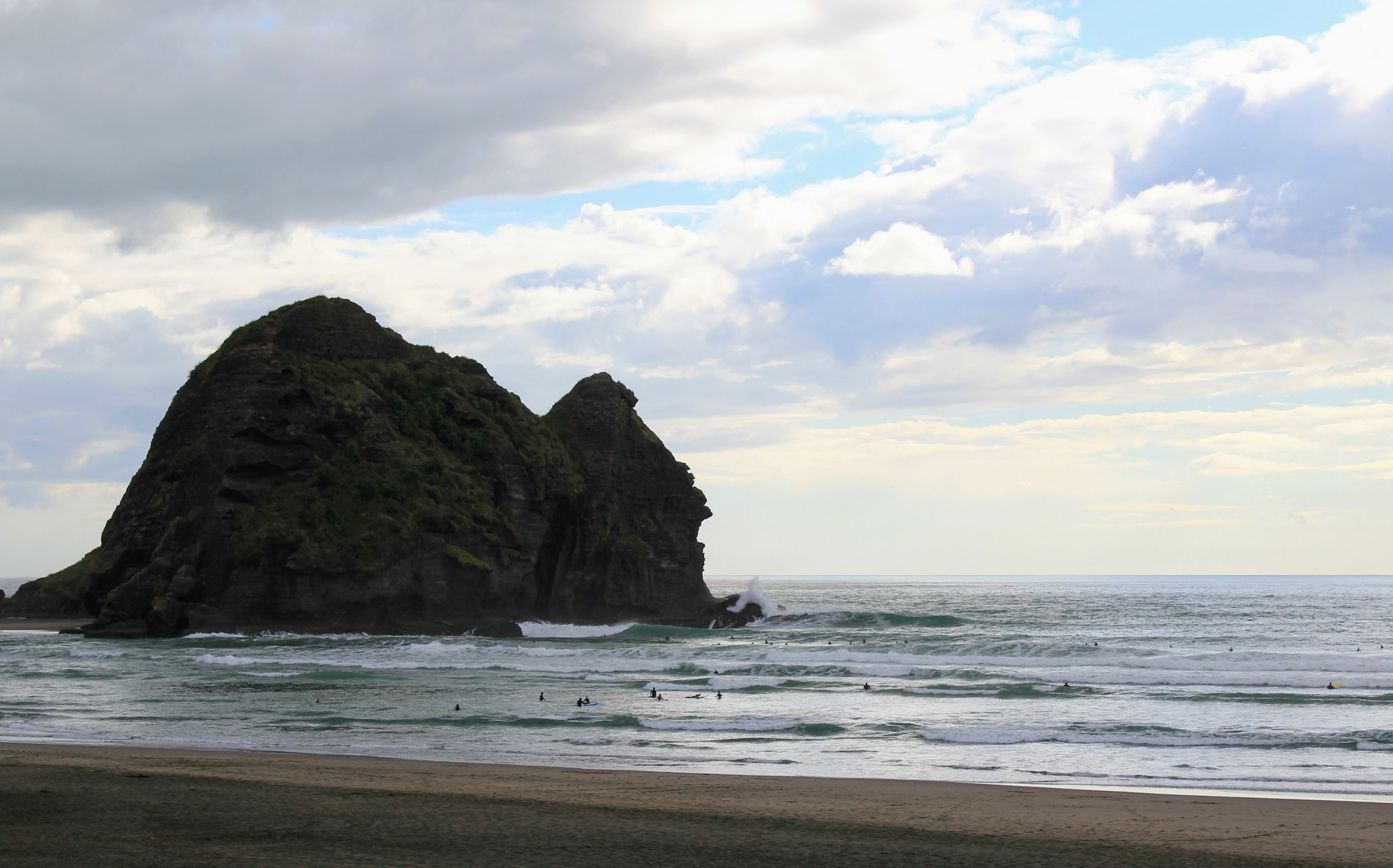 Piha's lion rock
