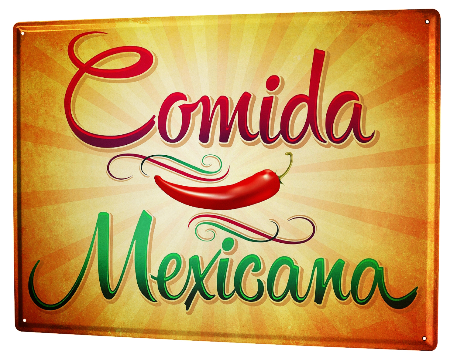 tin sign xxl retro mexican food metal plate plaque 4059081223040 ebay. Black Bedroom Furniture Sets. Home Design Ideas