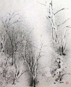 «Покой», тушь, бумага, 83,5х95, 2012 г.