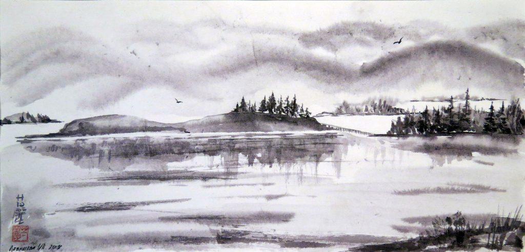 Отблеск восходящего солнца. Школа японской живописи Левашевой И.А.