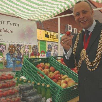 2009 Mayor at Brambletye stall