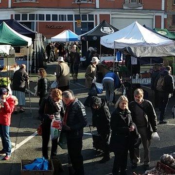 Marylebone farmers market wide
