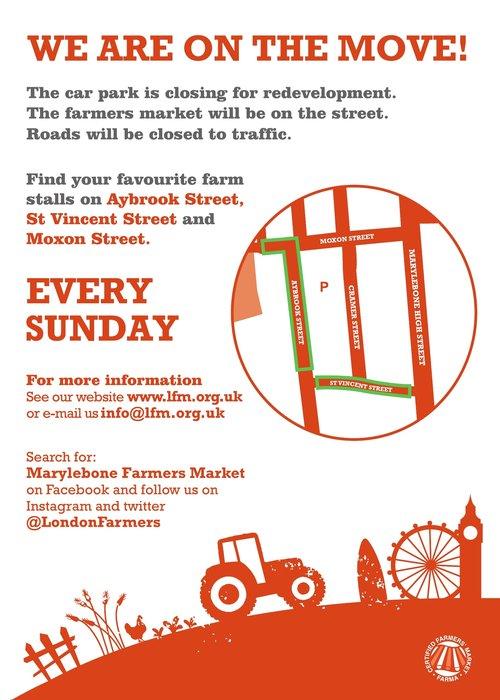 Marylebone move leaflet map