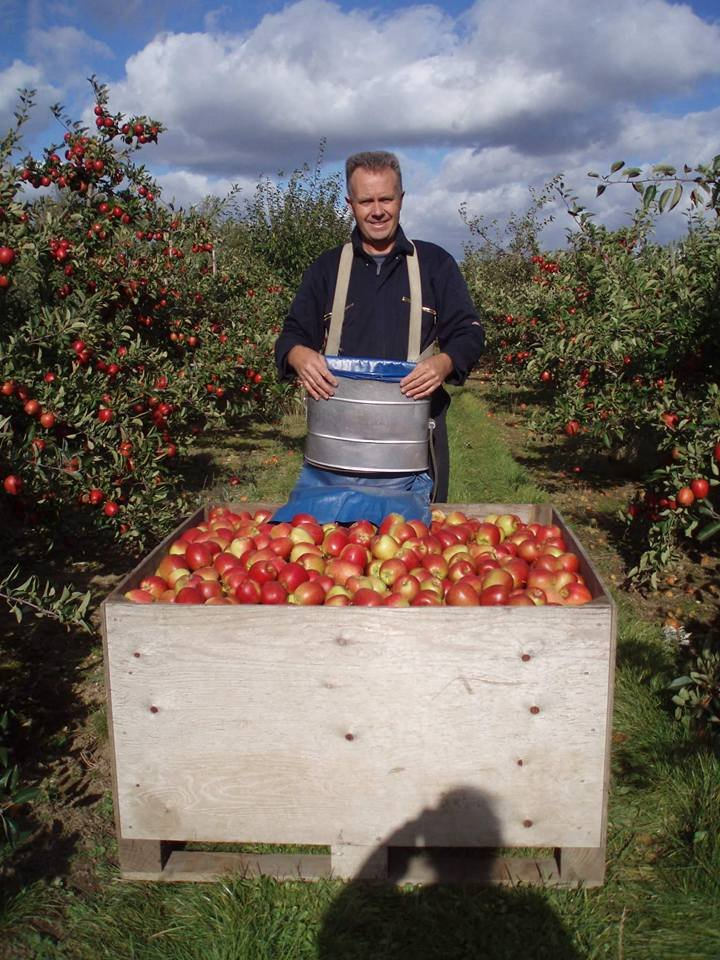 Malcolm Stone in orchard