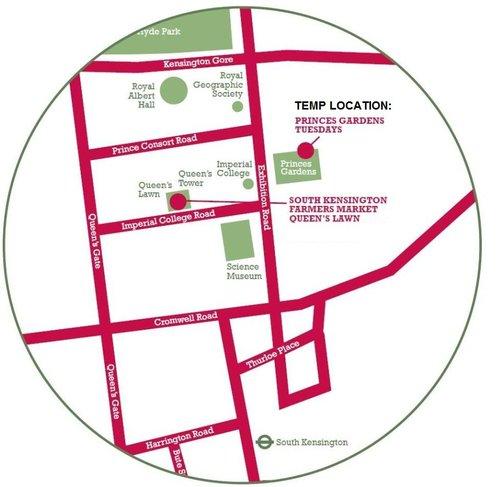 princes gardens location map