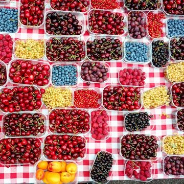 fruit chequer board