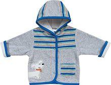 Schnizler Unisex Baby Jacke Kapuzenjacke Nicki Hündchen, Gr. 56, Grau (original 900)