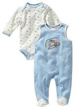 Schnizler Unisex Baby Strampler Set, Paraglider, 2 - tlg. mit Langarmshirt, Oeko - Tex Standard 100, Gr. 50, Blau (bleu 17)
