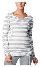 Noppies Damen Regular Fit Umstands Pullover ls Jolie str, Gestreift, Gr. 36 (Herstellergröße: S), Mehrfarbig (Birch C014)