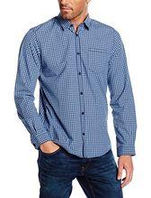 TOM TAILOR Herren Freizeithemd Hemd Ray Fil A Fil Vichy Shirt Mini-Kent