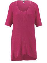 Rundhals-Pullover langem 1/2-Arm Anna Aura pink Größe: 48
