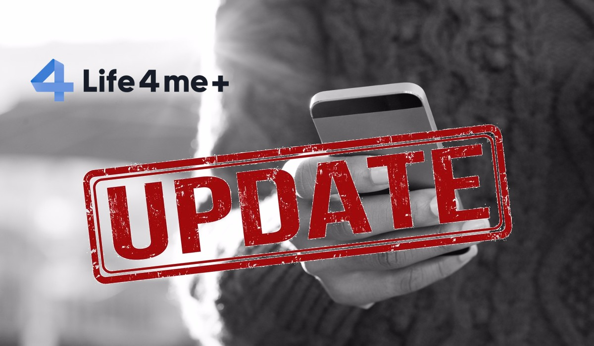 Today we released a major Life4me+ mobile App update for iOS and Android.
