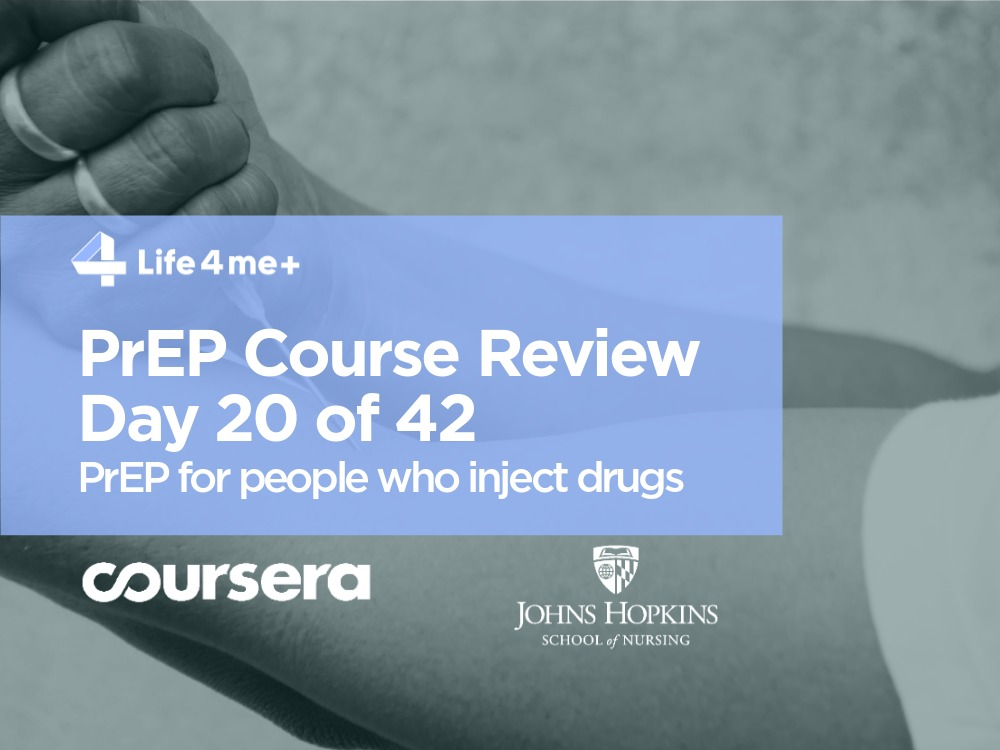 Drug User, HIV Infection and PrEP  — Course Review. Day 20 of 42 - Bild 1