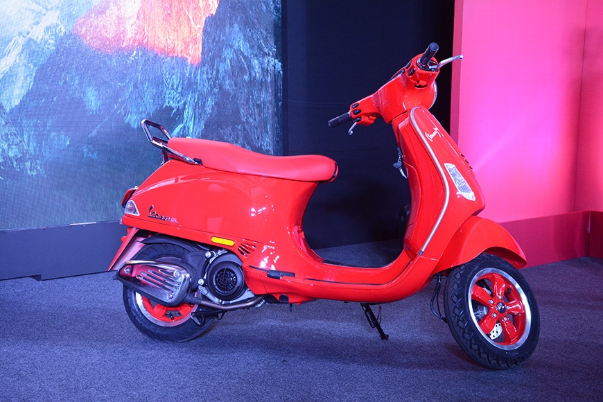 Vespa (RED) Scooter Is Launched In India