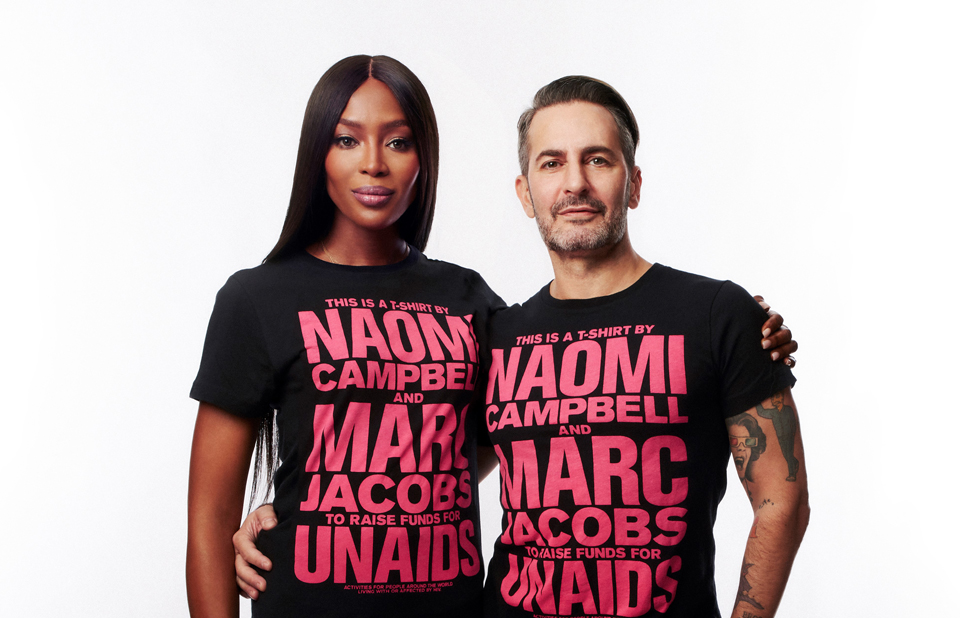 Naomi Campbell, Marc Jacobs and UNAIDS announce T-shirt collaboration - 图片 1