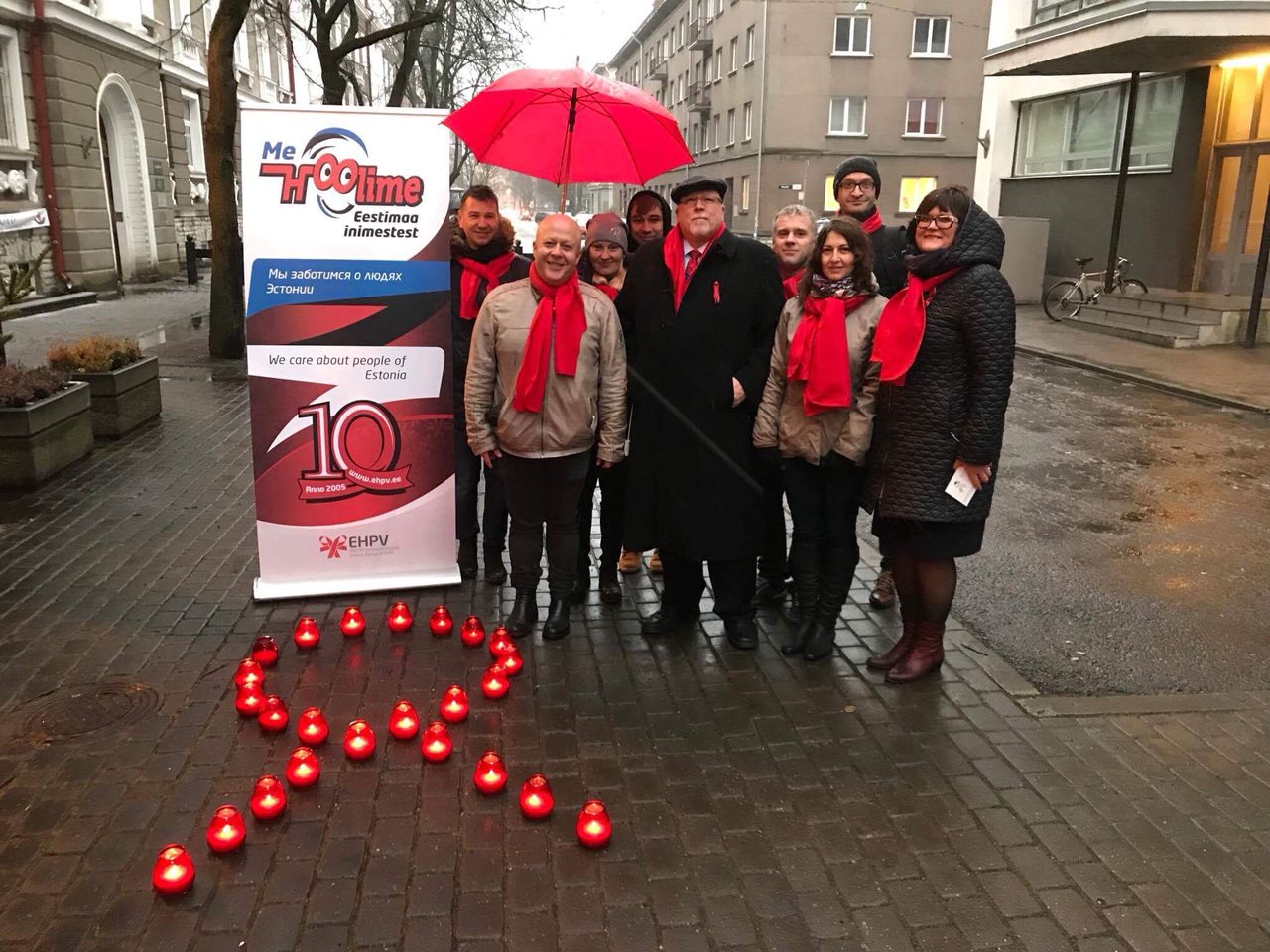 The Estonian network of people living with HIV calls for special attention to risk groups