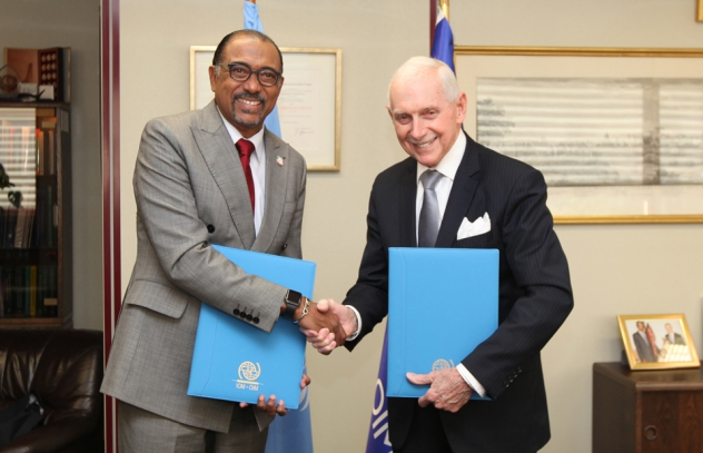 UNAIDS and IOM signed a partnership agreement