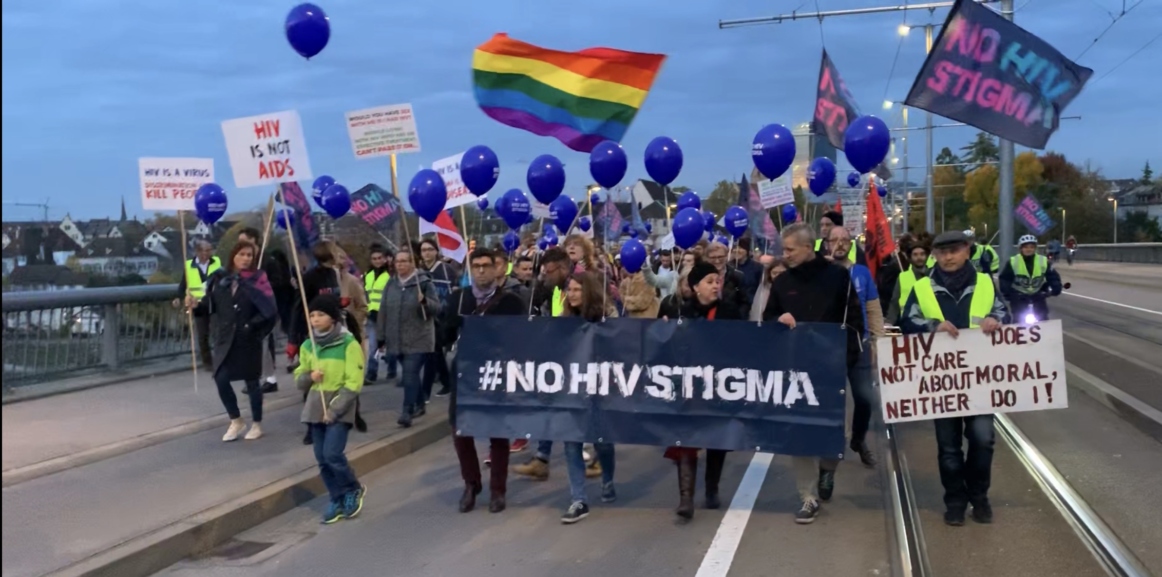 #NoHIVStigma demonstration takes to the streets of Basel - picture 1