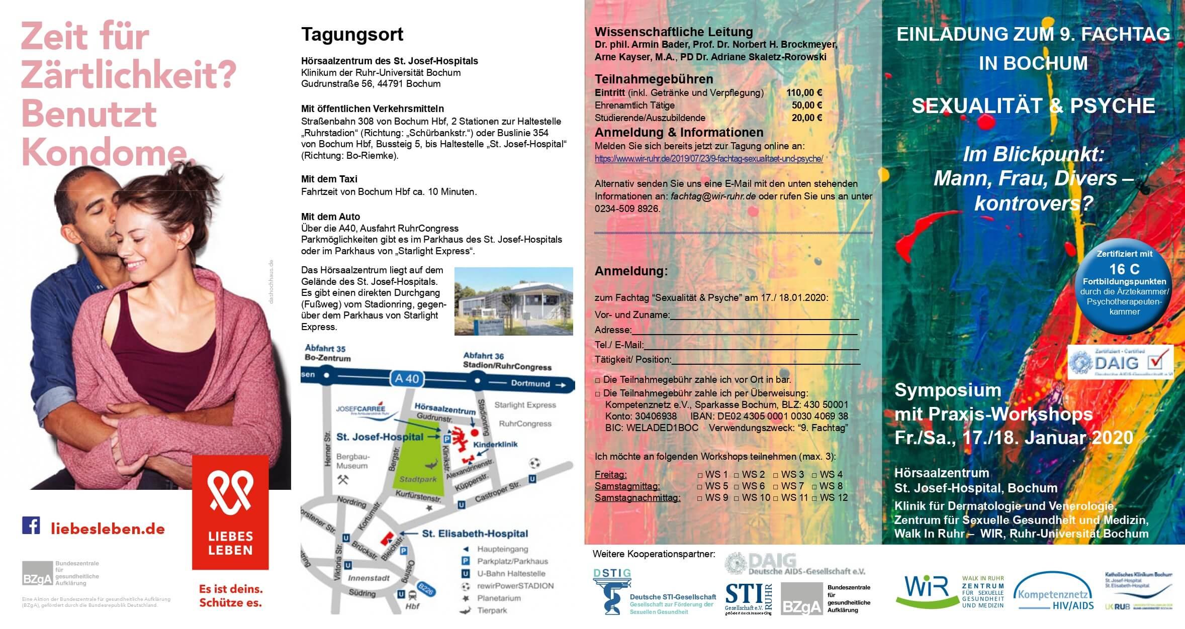 """Programm zum Symposium """"Sexualität und Psyche"""" ist online"""