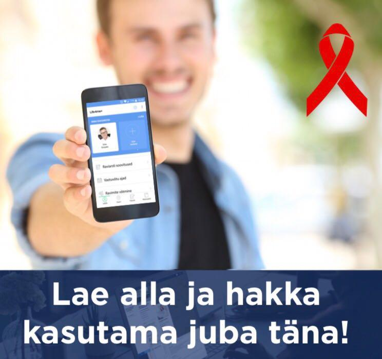 Estonian version of Life4me+ EE App for HIV-positive persons