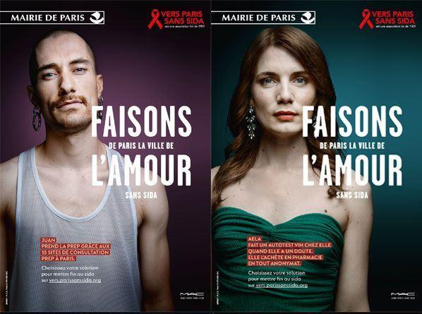 "French Campaign «Let's make Paris the city of love without AIDS""»"