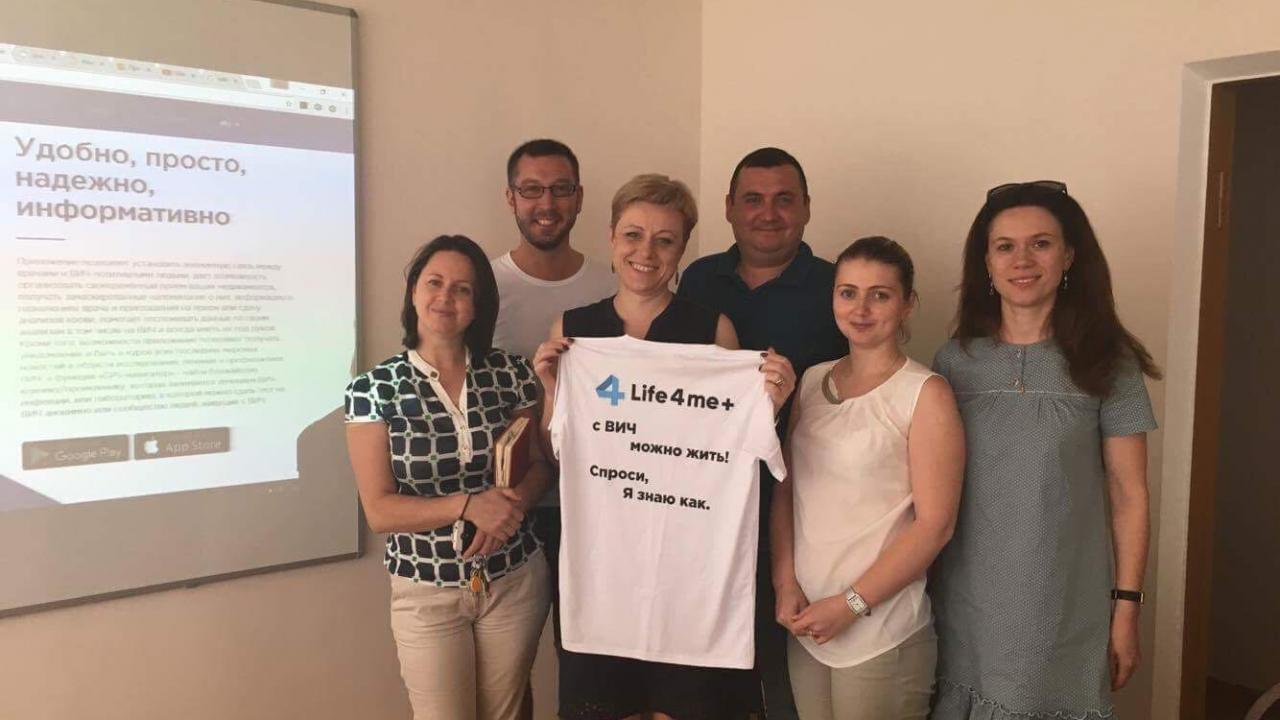 Life4me+ Founder Met the Members of the National Program Against HIV in Chisinau