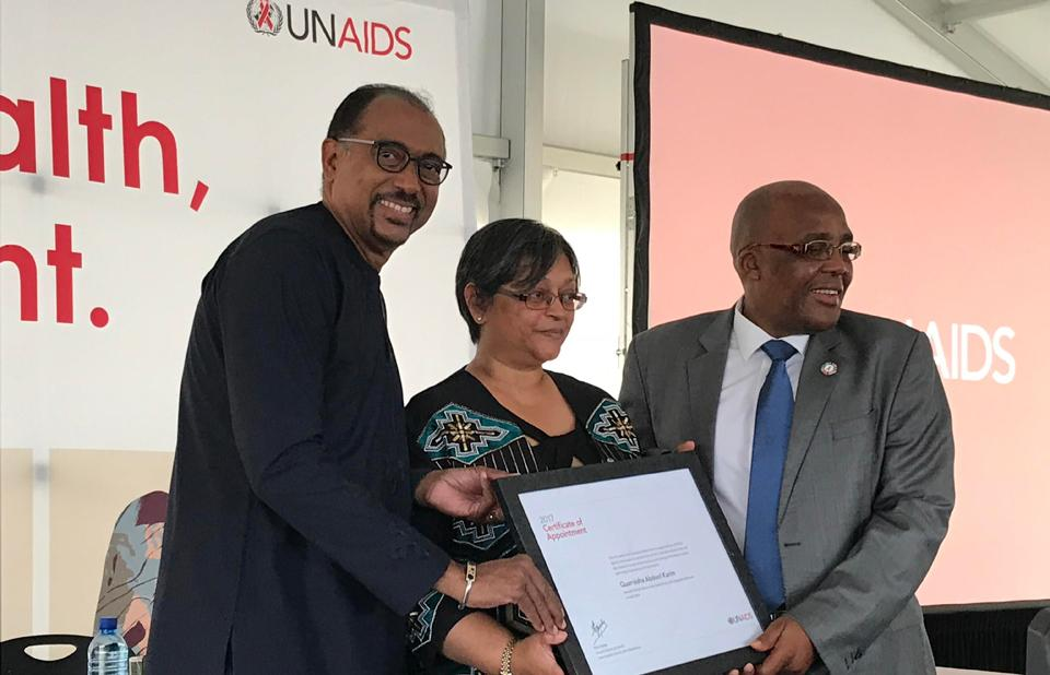 Quarraisha Abdool Karim appointed as a UNAIDS Special Ambassador for Adolescents