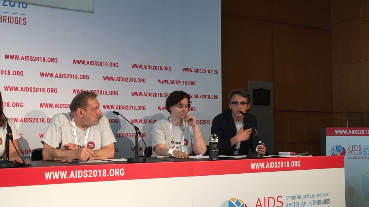 В Амстердаме прошла пресс-конференция, посвященная запуску кампании «Преследуй вирус, не людей!»