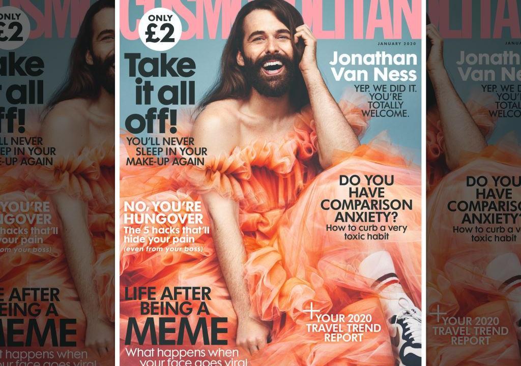 На обложке Cosmopolitan UK впервые за 35 лет оказался мужчина – ВИЧ-позитивный Джонатан Ван Несс - изображение 1