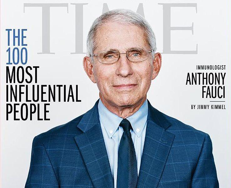 Энтони Фаучи попал на обложку журнала TIME