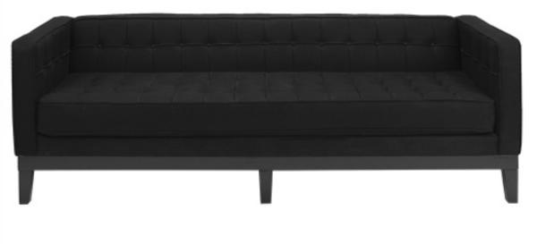 Davis Black Sofa