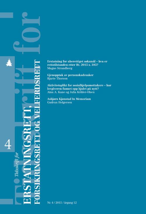 Tidsskrift for erstatningsrett, forsikringsrett og velferdsrett | Tidsskrifter