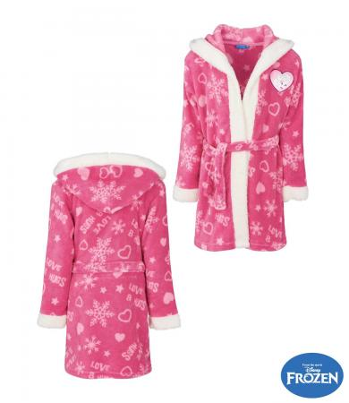 c2e83eff96 Disney Frozen Coral fleece Bathrobe with hood