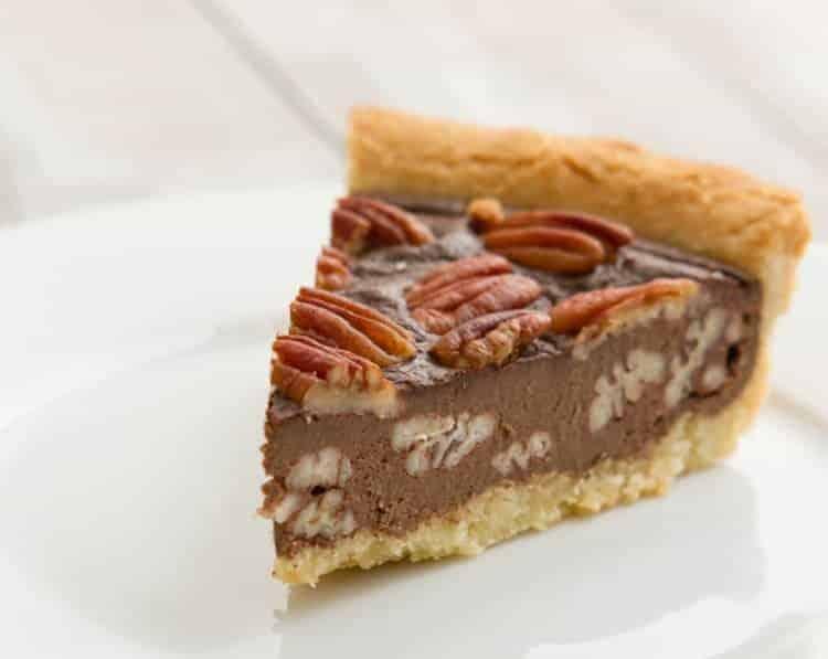 Chocolade pecan taart
