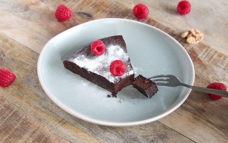 Chocoladetaart met frambozen
