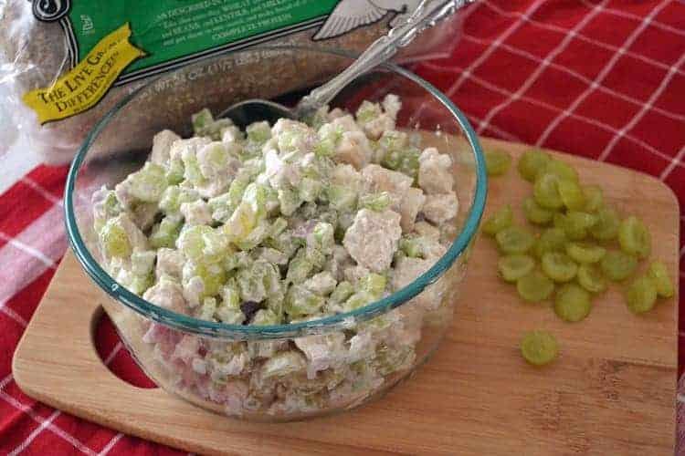 Frisse kipsalade met witte druiven