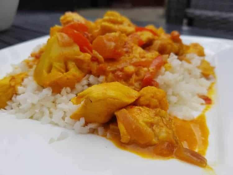 Koolhydraatarme curry madras