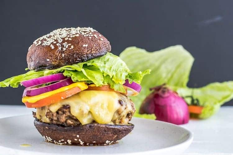 Koolhydraatarme portobello burger