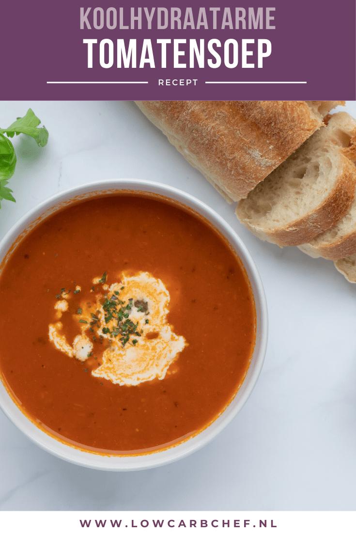 Met dit recept maak je een heerlijke koolhydraatarme tomatensoep. De tomatensoep is lekker romig en rijkgevuld met tomaat, wortel en gehaktballetjes. #koolhydraatarm #soep #tomaat