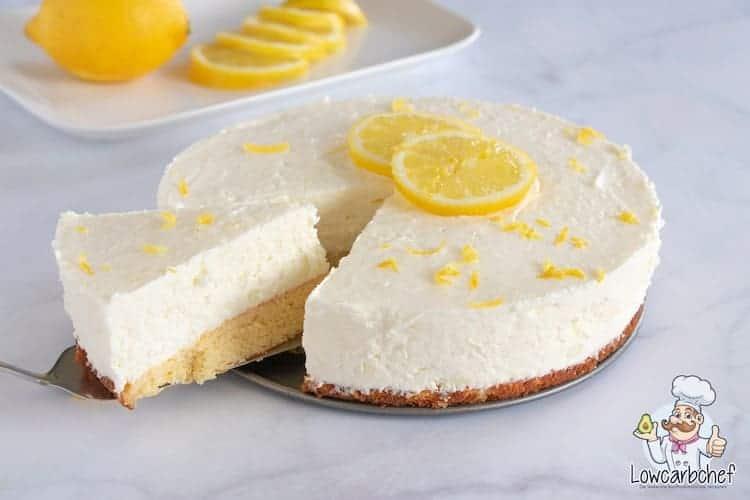Kwarktaart met citroen.