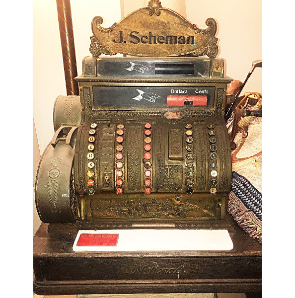 National Cash Register model 452 with a personal marquee