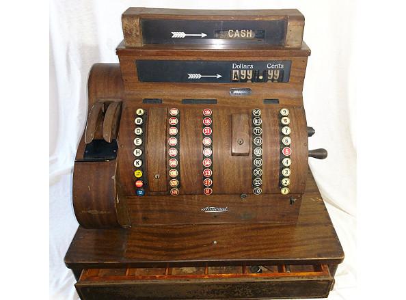 National Cash Register model 852. Wood