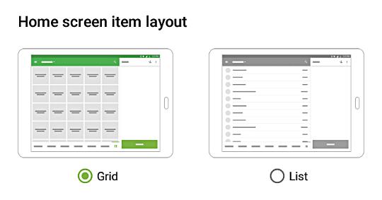 Loyverse POS Home screen item layout