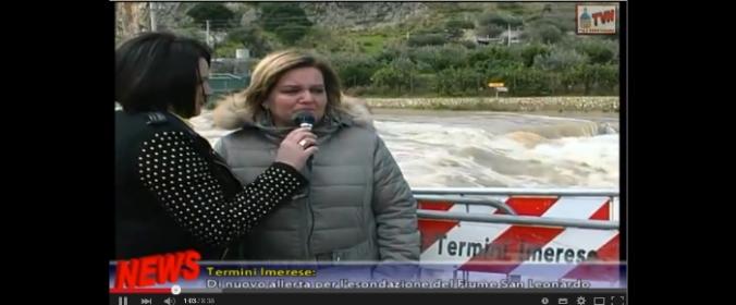 Di Nuovo allerta in contrada Piani Marini a Termini Imerese (VIDEOSERVIZIO)