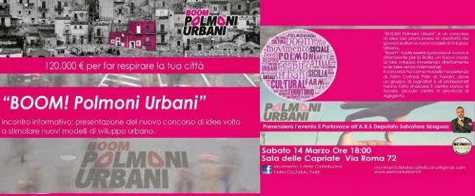 Presentazione 'Boom - Polmoni Urbani a Castelbuono' - 120.000 €uro per far respirare la tua città!