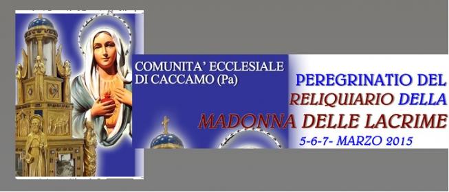 A Caccamo il Reliquiario della Madonna delle Lacrime di Siracusa