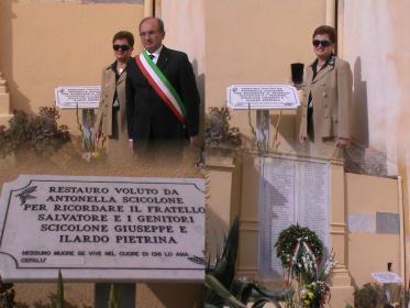 Il sindaco Guercio ringrazia Antonella Scicolone